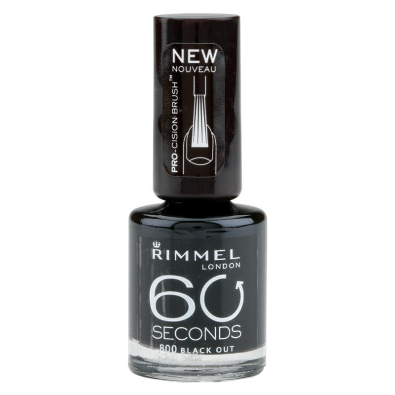 림멜 네일 에나멜 60 세컨즈 블랙 ..