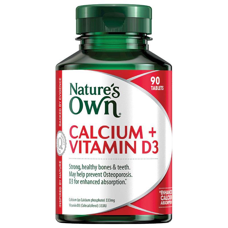 네이쳐스온 칼슘앤비타민 D3 90정