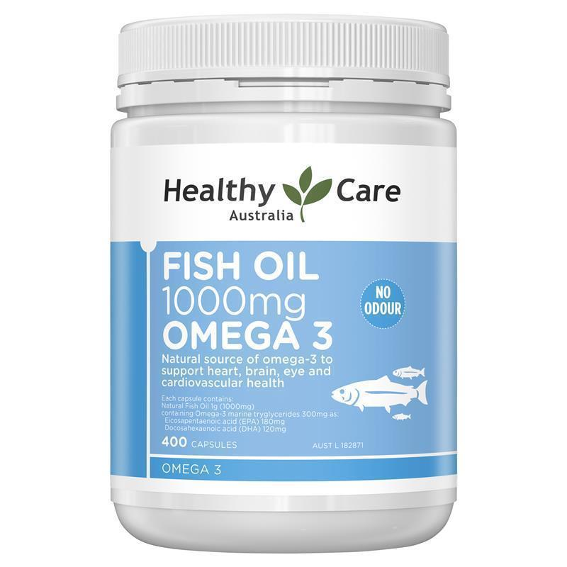 Healthy care fish oil 1000mg 400 capsules ebay for Does fish oil lower triglycerides