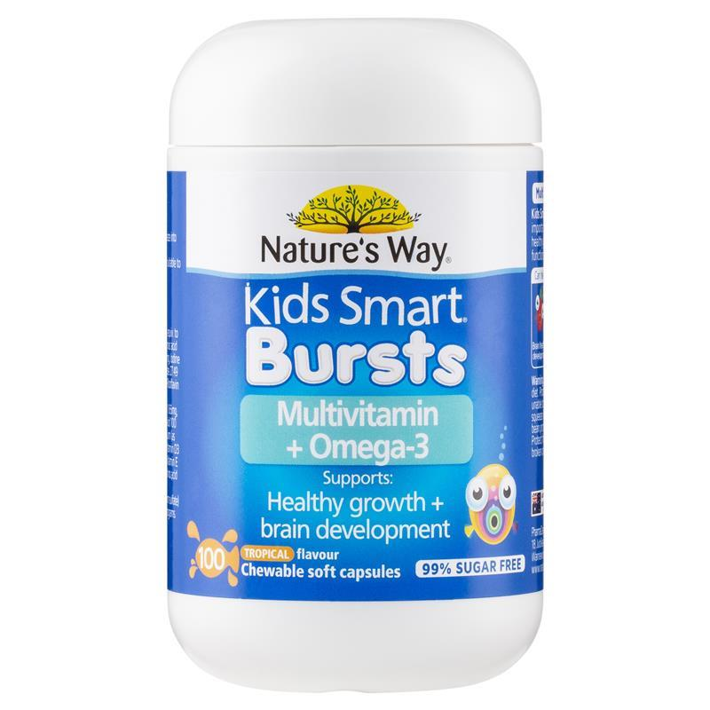 Nature 39 s way kids smart complete multi vitamin fish oil for Does fish oil lower triglycerides