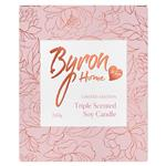 Byron Home Mum Triple Scented Soy Candle Lotus Flower Freesia & Patchouli