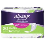 Always Discreet Pad Level 2 Small 20 Pack for Bladder Leaks