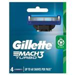 Gillette Mach 3 Turbo 3D Cartridges 4 Pack