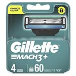 Gillette Mach 3+ Cartridges 4 Pack
