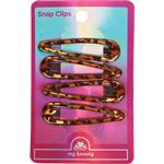 My Beauty Hair Snap Clip 4 Pack Demi Amber
