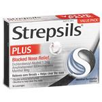 Strepsils Plus Blocked Nose Relief 36 Lozenges