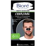 Biore Mens Charcoal Deep Cleansing Pore Strips 6 Pack
