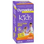 Dymadon Pain & Fever Relief for Kids Ages 2 years - 12 years 100ml