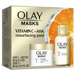 Olay Masks Vitamin C Resurfacing and AHA Peel Activator Duo Kit