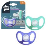 Tommee Tippee Closer to Nature Sensitive Soother 6-18 Months 2 Pack