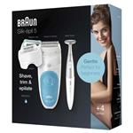 Braun Silk-Epi 5 Wet & Dry Epilator White/Blue SES5-810 Online Only