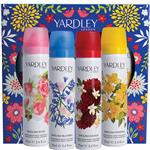 Yardley Body Spray 75ml 4 Piece Set