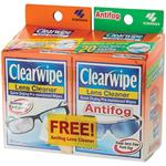 Clearwipe + Antifog Lens Cleaner Twin Pack