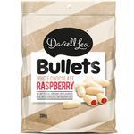 Darrell Lea White Choc Raspberry Bullets 200g