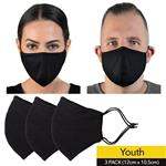 Wagner Body Science X HPE Reusable Face Mask Youth 3 Pack Online Only