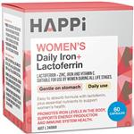 Happi Womens Daily Iron + Lactoferrin 60 Capsules Online Only