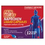 Pain Relief Naproxen Liquid Capsules 10 Pack
