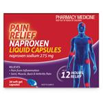 Pain Relief Naproxen Liquid Capsules 30 Pack