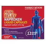 Pain Relief Naproxen Liquid Capsules 30 Pack