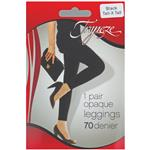 Trapeze Opaque Leggings 70D Black Tall/XTall 1 Pack