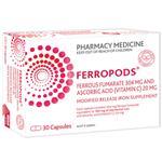 Ferropods Iron & Vitamin C 30 Capsules