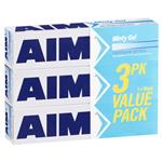 Aim Toothpaste Minty Gel Value 3 Pack