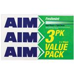 Aim Toothpaste Freshmint Value 3 Pack