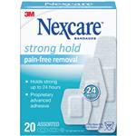 Nexcare Strong Hold Pain-Free Removal Strips 20 Pack Assorted