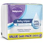 Babylove Water Wipes 240 Pack Online Only