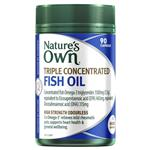 Natures Own Triple Concentrated Fish Oil Odourless 90 Capsules