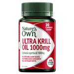 Nature's Own Ultra Krill Oil 1000mg 30 Capsules NEW