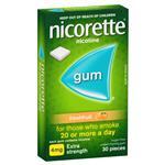Nicorette Gum 4mg Fresh Fruit 30 Pieces
