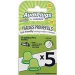 Audiplugs Tradies Pro Refills 5 Pairs
