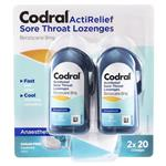Codral ActiRelief Sore Throat Mint 40 Lozenges