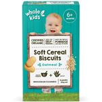 Whole Kids Organic Soft Cereal Biscuits Oatmeal 6 Pack 120g