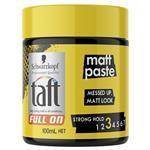 Schwarzkopf Taft Full On Matt Paste 100ml