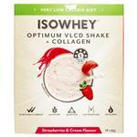 IsoWhey Optimum VLCD Shake + Collagen Strawberries & Cream 18 x 55g
