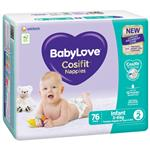 BabyLove Cosifit Jumbo Nappies Infant 76 Pack