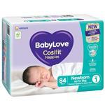 BabyLove Cosifit Jumbo Nappies Newborn 84 Pack
