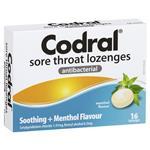 Codral Menthol 16 Lozenges