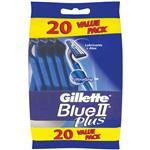 Gillette Disposable Razors Blue II 20 Pack Regular