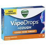 Vicks VapoDrops + Cough Orange Menthol 16 Lozenges