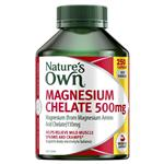 Nature's Own Magnesium Chelate 500Mg 250 Capsules Exclusive Size New