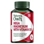 Natures Own Mega Magnesium With Vitamin D3 100 Tablets