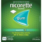 Nicorette Gum 2mg Spearmint 210 Pieces Exclusive Size
