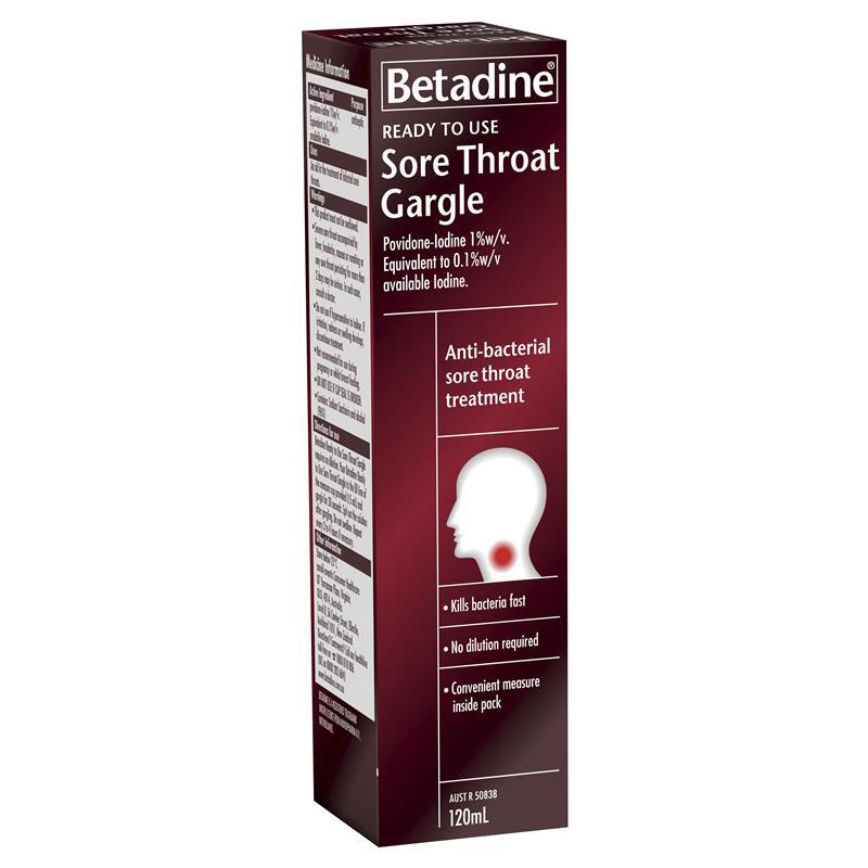 Buy Betadine Sore Throat Ready To Use 120ml Online at