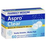 Aspro Clear Pain Relief 60 Soluble Tablets
