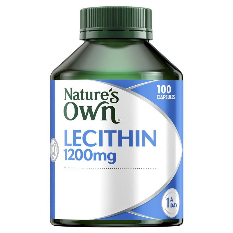 Nature's Own Lecithin 1200mg 100 Capsules at Chemist Warehouse in Campbellfield, VIC | Tuggl