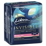 Libra Pads Invisible Body Fit with Wings Super 10