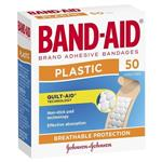 Band-Aid Plastic Strips 50